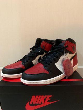 2x Air Jordan 1 Bred toe and court purple