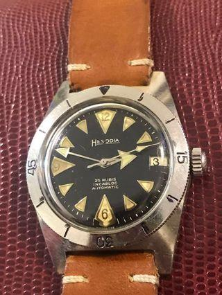 Vintage French skin diver in rare gilt dial for trade Titus calypsomatic