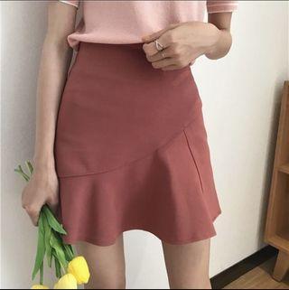 🚚 豆沙紅短裙