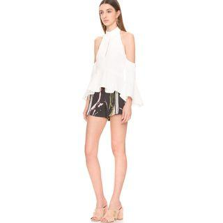 BNWT C/MEO COLLECTIVE TOO CLOSE IVORY TOP - SIZE XS (RRP $189.95)