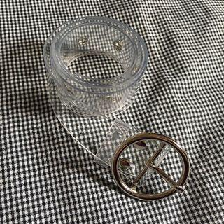 Oval Belt Silver Transparent