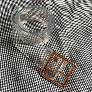Square Belt Gold Transparent