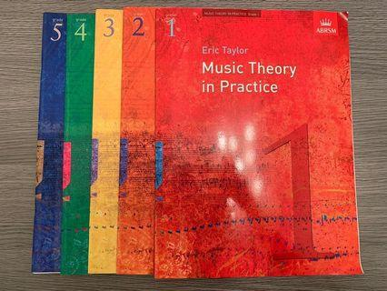 ABRSM Music Theory in Practice Grade 1-5 樂理書