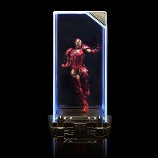 *靚* 全新 有燈 著燈 發光 LED DISPLAY盒 TOPI MSH MARVEL SUPER HERO ILLUMINATED GALLERY COLLECTION IRON MAN + THOR 鋼鐵俠 + 雷神 AVENGERS 復仇者聯盟