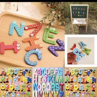 Instock! Educational Wooden 26pcs Alphabets Magnets
