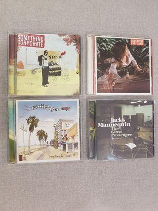 Something Corporate & Jack's Mannequin albums
