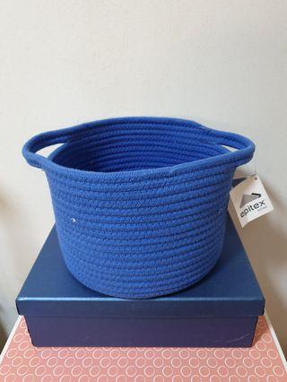 🚚 (New) Epitex Woven Basket with handle, H = 17cm, Dia = 24cm
