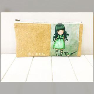 Handmade inspired Gorjuss girl pouch