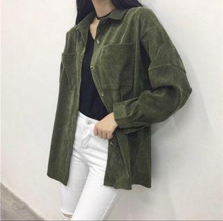 🚚 韓版燈芯絨襯衫/外套