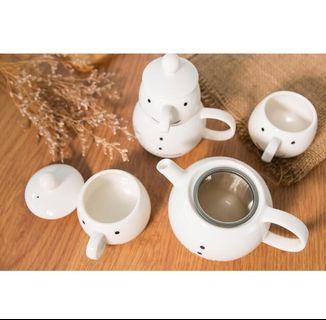 台中市區可面交👌可愛笑臉娃娃造型茶壺器皿