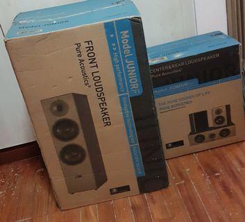 Full set of Pure Acoustics speakers, new!