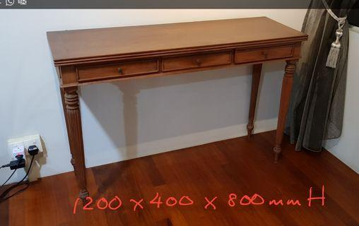 🚚 Solid Teak Console Table