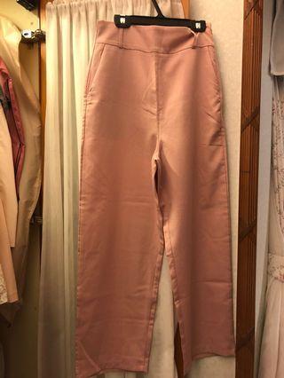 粉紅色闊腳褲 pink flare pants