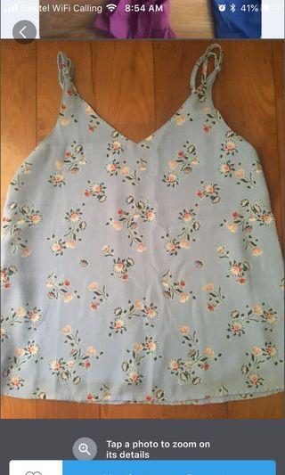 Cotton on floral spag top