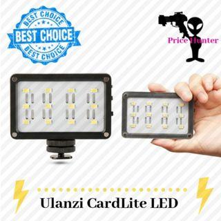 Ulanzi CardLite LED Video Light on Camera Rechargeable Built-in Battery with 2 color gel for DSLR/Camcorders/Gimbal
