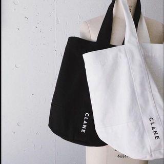 日本設計品牌clane黑色帆布袋