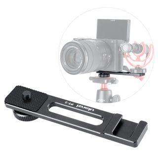 Ulanzi PT-5 Microphone Tripod Mount Adapter Bracket for Sony A6400/A6500/A6300 Camera/Canon G7X II