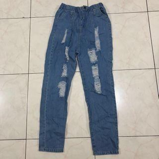 Denim Stretchable Ripped Pants/Jeans