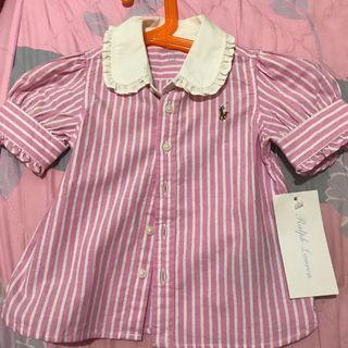 🚚 Polo清新粉紅襯衫