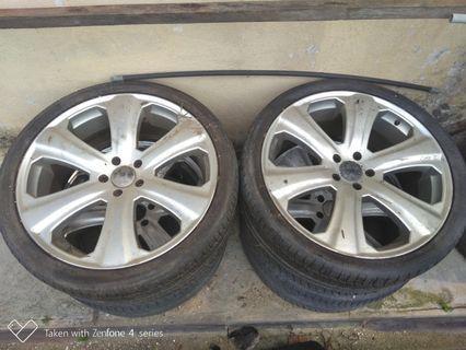 Sport rim 22 inc with tyre porsche cayyen q7 tuoreg bmw x5 x6