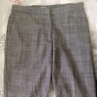 H&M Checkered Grey Pants