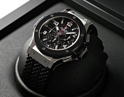 2016 HUBLOT Big Bang Steel Ceramic Stamped Carbon Effect Dial - 44mm In Mint Condition with Chronograph Function
