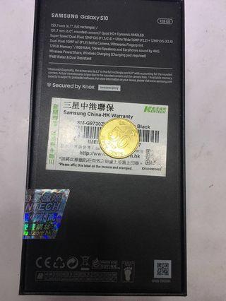 SAMSUNG S10 128GB 黑色 全新未開