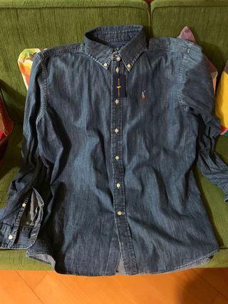 Ralph Lauren polo denim shirt 牛仔恤衫