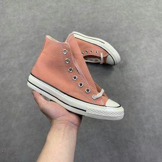 Converse 1970s 三星黑標男女 高幫帆布鞋系列 水蜜桃