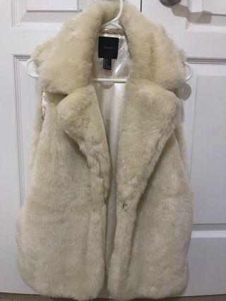 Faux Fur White Vest - Forever 21