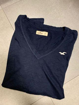 Hollister Long Sleeves Cotton Black Tee