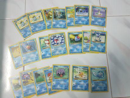 Pokemon Water Type Set 1