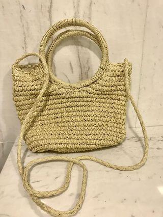 Straw Bag/ beach bag