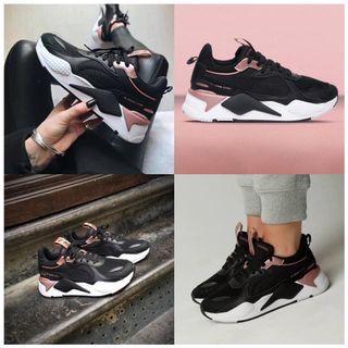 PUMA RS-X 老爹鞋 黑白 黑粉 玫瑰 粉紅 限量 女鞋 歐美限定款