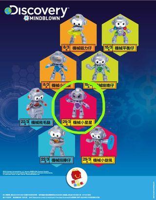 (包平郵) 麥當勞開心樂園餐玩具 - Discovery Mindblown - 機械小星星