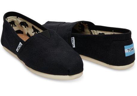 BNIB Black TOMS - Size 10