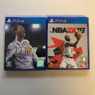 WTS- Bundle Sales! PS4 Fifa 18 + NBA2K18