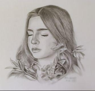 🚚 Graphite /charcoal pencil portrait (20×28cm) #pencilportrait #birthdaygift #birthday #customisedgift