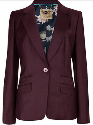 Ted Baker Stretch Flannel Suit Jacket In Dark Red /