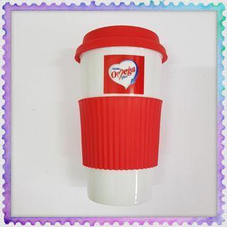 Nestle Omega plus porcelain drink mug cup with silicone rubber holder