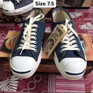 Vintage Converse Jack Purcell Navy Made in USA Size 7.5