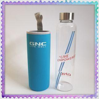 GNC Glass Flask water bottle with cover