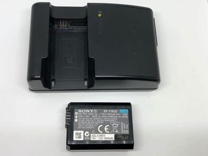 SONY NP-FW50 電池 加 原裝充電器 nex 6400 6500 6300