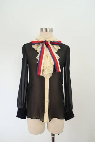 Gucci ruffle sill blouse top