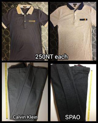 Clothes pants shirts SPAO Calvin Klein (X-XS)