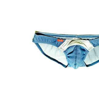 Authentic GX3 Underwear Lowrised Denim Bikini BLUE/WHITE
