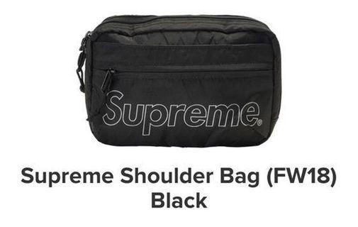 Supreme FW 18' shoulder bag (black)
