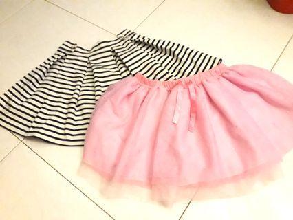 Kids hnm and sesame street skirts