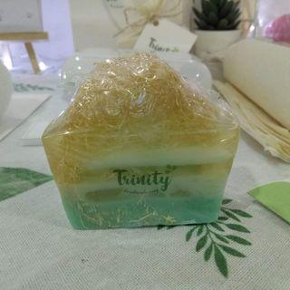 Trinity Handmade Loofah Soap Scented with Lemongrass Essential Oil