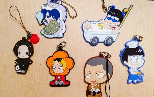 Mixed anime - Rubber keychain / Strap